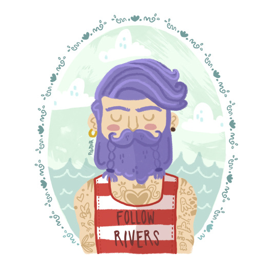 Beard graphic design