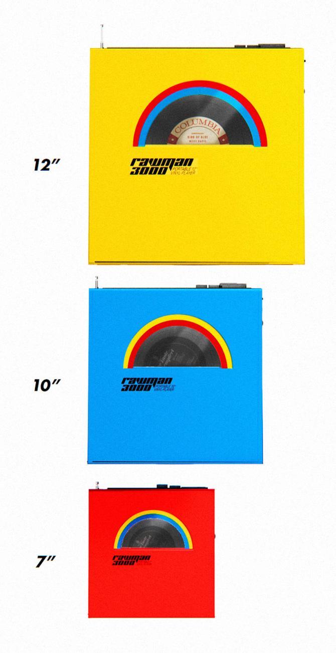 Design il lettore di vinili portatile rocket wink osso magazine - Mobile porta dischi vinile ...